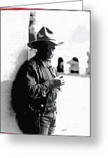 Dustin Farnum On  Set Of Light Of The Western Stars  Las Moros Ranch Southern Arizona 1918-2013  Greeting Card