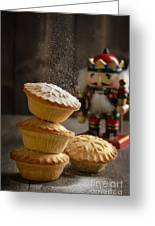 Dusting Mince Pies Greeting Card