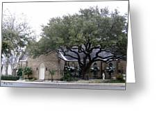 Dusting Of Snow At Church On Pennsylvania St Fort Worth Tx Greeting Card