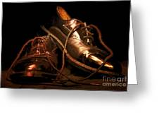 Dusty Dancing Shoes Greeting Card