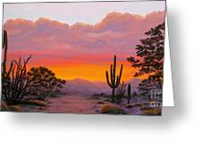 Dusty Sunset Greeting Card
