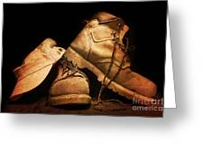 Dusty Work Boots Greeting Card