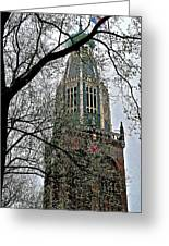 Dutch Reformed Church Tower In Enkhuizen-netherlands Greeting Card