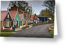 Dutch Shops On Windmill Island In Holland Michigan Greeting Card