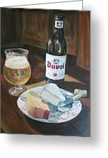 Duvel And Cheese Plate Greeting Card