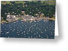 Duxbury Harbor And Downtown Duxbury Greeting Card