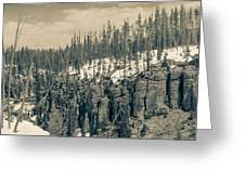 Yellowstone In The Snow Greeting Card