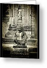 Dvarapala At Banteay Srey Greeting Card