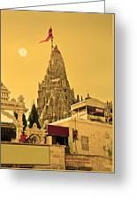 Dwarka Krishna Temple Greeting Card