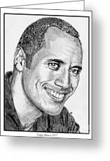 Dwayne Johnson In 2007 Greeting Card by J McCombie