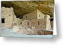 Dwellings In Spruce Tree House On Chapin Mesa In Mesa Verde National Park-colorado  Greeting Card