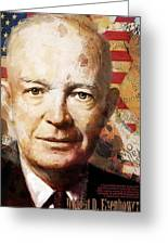 Dwight D. Eisenhower Greeting Card by Corporate Art Task Force