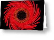 Dying Amaryllis Flower Mandala Greeting Card
