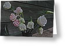 Dying Grieving Flowers Greeting Card