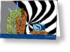 Dynamic Decor Greeting Card by Lewanda Laboy