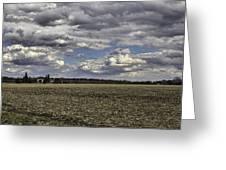 Dynamic Farmland Landscape Greeting Card