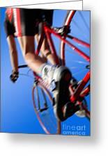 Dynamic Racing Cycle Greeting Card