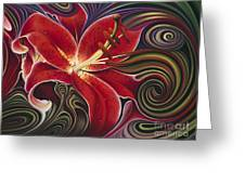 Dynamic Reds Greeting Card