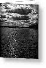 Dynamic Storm Over The Marsh Greeting Card