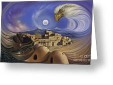 Dynamic Taos Ill Greeting Card by Ricardo Chavez-Mendez