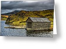 Dywarchen Boathouse Stormy Greeting Card