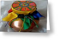 Dzambala Fortune Vase Greeting Card