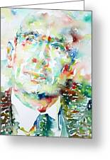 E. E. Cummings - Watercolor Portrait Greeting Card