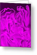 E Vincent Negative Purple Greeting Card