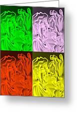 E Vincent Negative Quad Colors Greeting Card