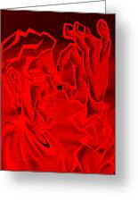 E Vincent Negative Red Greeting Card