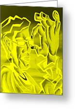 E Vincent Negative Yellow Greeting Card
