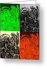 E Vincent Quad Colors Greeting Card