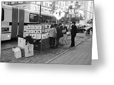 E85th. In Black And White Greeting Card