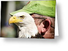 Eagle And His Man Greeting Card