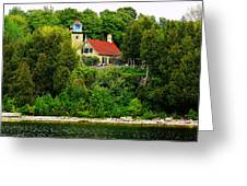 Eagle Bluff Lighthouse Of Door County   Greeting Card