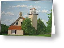 Eagle Bluff Lighthouse Wisconsin Greeting Card