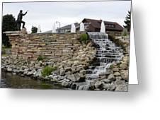 Eagle Center Waterfalls Greeting Card