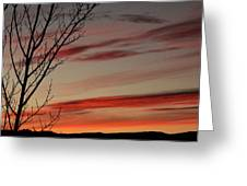 Eagle County Sunset Greeting Card