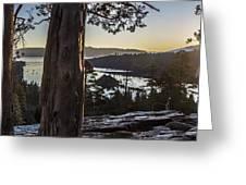 Eagle Falls Exploration Greeting Card