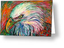 Eagle Fire Greeting Card