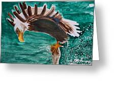 Eagle Fishing Greeting Card