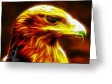 Eagle Glowing Fractal Greeting Card