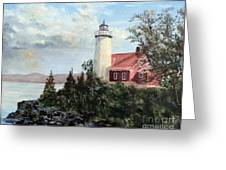 Eagle Harbor Light Greeting Card