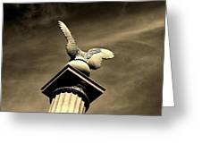 Eagle In Stone Greeting Card