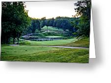 Eagle Knoll - Hole Fourteen From The Tees Greeting Card