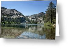Eagle Lake Greeting Card by Kenneth Hadlock