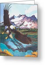 Eagle Oregon Lake Greeting Card
