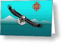 Eagle Over Olympics Greeting Card
