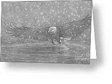 Eagle Over Water Greeting Card