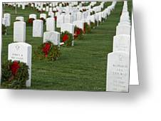 Eagle Point National Cemetery At Christmas Greeting Card